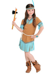 déguisement d'indienne pour enfant, déguisement indienne fille, déguisements filles, costumes filles déguisements Déguisement d'Indienne Turquoise, Fille