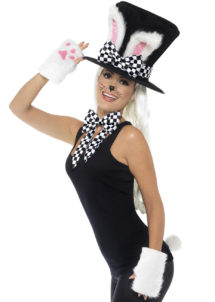 kit lapin de magicien, kit de magicien, oreilles de lapin, Chapeau Lapin de Magicien, avec Foulard, Queue et Mitaines