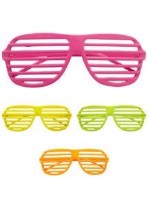 lunettes fluos, lunettes stores, lunettes années 80, Lunettes Couleurs Fluos, Stores
