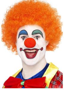 perruque de clown rouge, perruque de clown, perruque afro orange, Perruque de Clown Circus, Orange