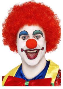 perruque de clown rouge, perruque de clown, perruque afro rouge, Perruque de Clown Circus, Rouge