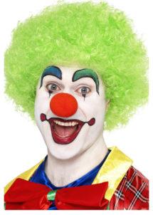 perruque de clown rouge, perruque de clown, perruque afro verte, Perruque de Clown Circus, Verte