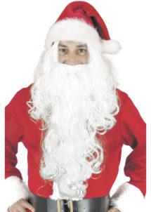 perruque et barbe pere noel, perruque de pere noel, barbe de pere noel, Perruque et Barbe de Père Noël, 50 cm, Blanche
