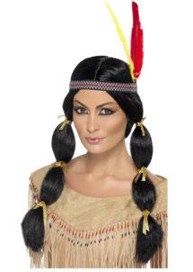 perruque femme, perruque pas cher paris, perruque tresses noires, perruque noire, perruque femme, perruques paris, perruque d'indienne, Perruque d'Indienne, Nattes, Noire