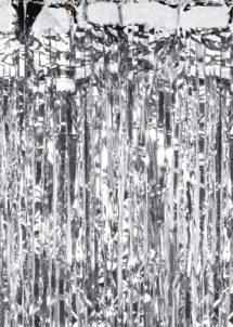 rideau de porte argent, rideau lamé, rideau à lamelles brillantes, décoration de porte brillante, rideau lamelles argent, Rideau de Porte, Lamelles Argent