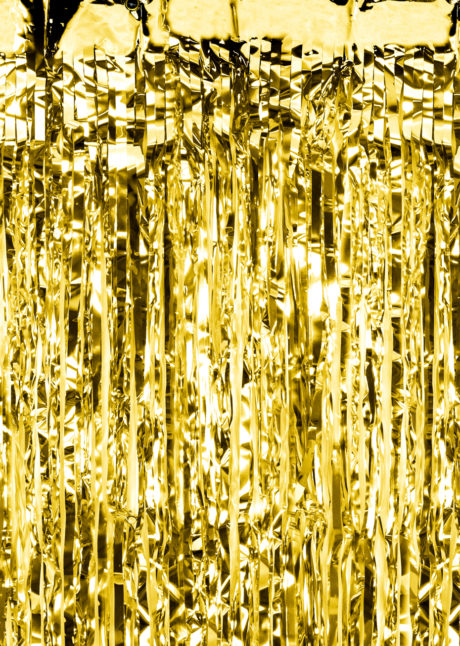 rideau de porte lamelles dorées, Rideau de Porte, Lamelles Dorées