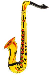 saxophone gonflable, accessoire déguisement musicien, accessoire musicien déguisement, faux instrument de musique, instrument musique déguisement, Saxophone Gonflable, Jaune, Orange ou Rose