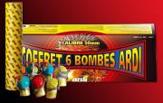 feux d'artifice automatiques, achat feux d'artifice paris, feux d'artifices compacts, feux d'artifices ardi Feux d'Artifices, Coffret 6 Bombes, Usage Règlementé