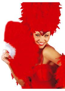 éventail en plumes rouges, accessoires en plumes, éventails de déguisement, accessoires carnaval, accessoires années 30, Eventail en Plumes Rouges
