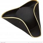 chapeaux tricornes, chapeau tricorne noir, chapeaux vénitiens, chapeaux paris, accessoires déguisements Chapeau Tricorne, Liseré Or