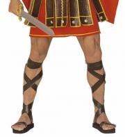 sandales romaines, sandales de gladiateur, accessoire romain déguisement, accessoire déguisement de romain, accessoire déguisement gladiateur, accessoire gladiateur déguisement, sandales romaines de gladiateur déguisement Sandales Romaines en Simili Cuir