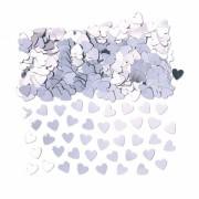 confettis de table, confettis coeurs, décorations de tables confettis, confettis coeurs argent Confettis de Table, Coeurs Argent