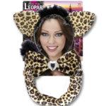 kit de léopard déguisement, accessoire déguisement de léopard, accessoire léopard déguisement, oreilles de léopard déguisement, queue de léopard déguisement Kit de Léopard, Oreilles, Noeud et Queue
