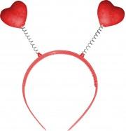 serre tete coeurs, serre tête coeurs, accessoire déguisement, accessoire coeur déguisement Coeurs Rouges Pailletés