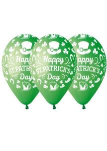 ballon saint patrick, ballons hélium, ballons verts, ballons latex, ballons de baudruche, décorations saint patrick, Ballons Saint Patrick, en Latex, X 10
