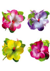 fleur hawaïenne pour cheveux, accessoire hawaïen, accessoire hawaï déguisement, déguisement hawaï, barrette hawaï, Barrette Fleurs Orchidée