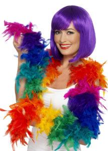 boa, boa de déguisement, boa années 30, boas charleston, boa années 20, boa années folles, boas multicolore, boa multicolore, boa en plumes multicolores, boas en plumes arc en ciel, Boa en Plumes Multicolores