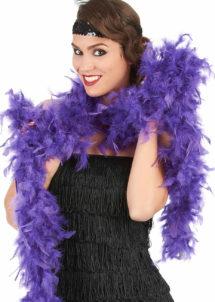 boa violet, boa plumes violettes, accessoire années 20, accessoire années 30, Boa en Plumes Violettes