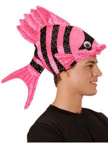 chapeau poisson, chapeaux humour, chapeaux animaux, déguisement de poisson, accessoires déguisement thème mer, Chapeau Poisson, Rose