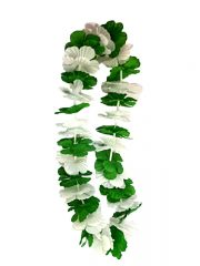 collier hawaïen, collier hawaï, collier de fleurs hawaïen, collier de fleurs hawaï, collier de fleurs hawaïen pas cher Collier de Fleurs Hawaïen, Vert et Blanc