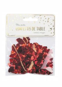 confettis de table,confettis coeurs rouges, décorations de table, décorations saint valentin, coeurs rouges confettis, Confettis de Table, Coeurs Rouges