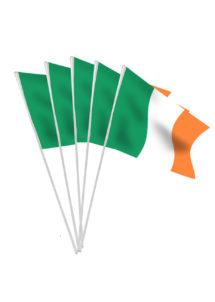 drapeaux irlandais, drapeaux des pays, boutique supporter, drapeau saint patrick, drapeaux de l'Irlande, boutique supporter, Drapeau Irlandais x 10, Drapeaux de Table