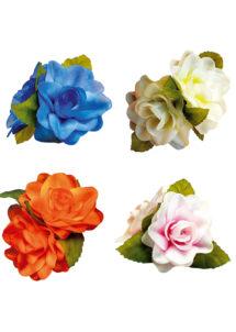 fleur hawaïenne pour cheveux, accessoire hawaïen, accessoire hawaï déguisement, déguisement hawaï, barrette hawaï, Barrette Fleurs Tropicales
