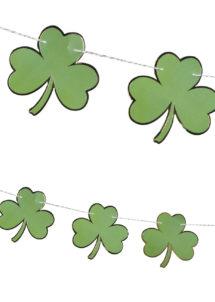 guirlande saint patrick, guirlande trèfles, décorations saint Patrick, Guirlande Trèfles Saint Patrick avec Bordure Dorée