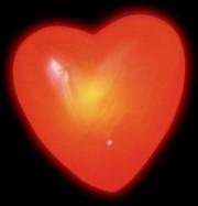 coeur rouge lumineux Broche Coeur Lumineux
