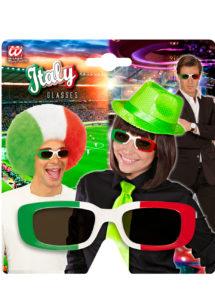 lunettes Italie, lunettes drapeau italien, lunettes supporter Italie, accessoires italiens, Lunettes Drapeau Italie