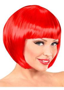 perruque rouge femme, perruque femme carré rouge, Perruque Chanel, Rouge