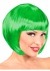 perruque verte femme, perruque femme, perruque carré femme, perruque verte, Perruque Chanel, Verte