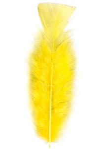 plumes de décoration, plumes pour masques, plumes de déguisements, plumes, sachet de plumes, plumes d'oiseau, plumes jaunes, Plumes Jaunes