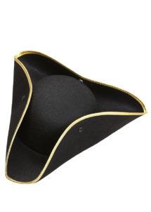 chapeaux tricornes, chapeau tricorne noir, chapeaux vénitiens, chapeaux paris, accessoires déguisements, Chapeau Tricorne, Liseré Or