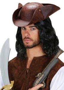chapeau tricorne, chapeaux tricornes, tricornes pirates, accessoires déguisement pirate, déguisements de pirate, Chapeau de Pirate, Tricorne