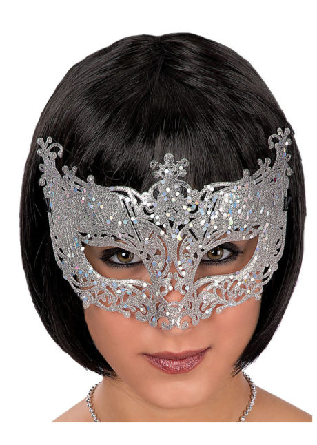 loup baby glitter argent, carnaval, loup vénitien, Loup Baby, Glitter Argent