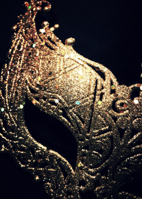 loup baby glitter doré, carnaval, loup vénitien, Loup Baby, Glitter Or