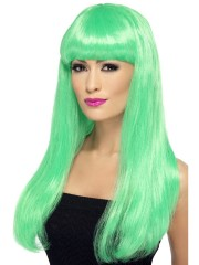 perruque pour femme, acheter perruque femme à paris, perruque de déguisement, perruque pas cher, perruque verte, babelicious Perruque Babelicious, Verte