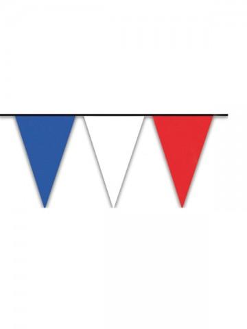 guirlande fanions bleu blanc rouge, guirlande fanions france, drapeaux france, boutique supporter, décorations france, décorations euro 2016, supporters france Guirlande Drapeaux Triangles, Bleu Blanc Rouge