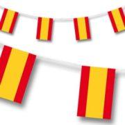 guirlande drapeaux espagnols, drapeaux des pays, guirlande fanions Espagne, coupe du monde 2018 Guirlande Drapeaux, Espagne