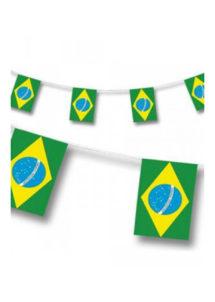 guirlande drapeaux brésiliens, guirlande fanions du brésil, guirlande drapeaux, Guirlande Drapeaux, Brésil