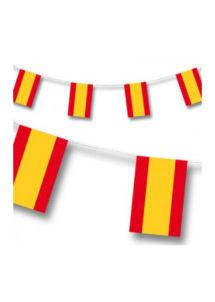 guirlande drapeaux espagnols, drapeaux des pays, guirlande fanions Espagne, coupe du monde, Guirlande Drapeaux, Espagne