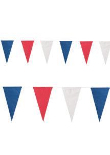 guirlande fanions bleu blanc rouge, guirlande fanions france, drapeaux france, boutique supporter, décorations france, guirlande drapeaux coupe du monde, drapeaux france, guirlande fanions france, Guirlande Drapeaux Triangles, Bleu Blanc Rouge
