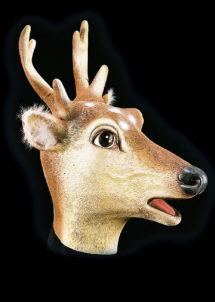 masque de cerf, masque animal, masques animaux, masque animal latex, Masque de Cerf, Latex
