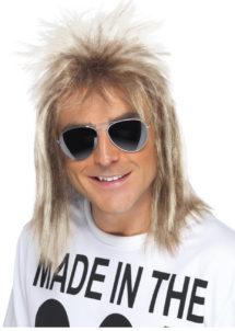 perruque disco homme, perruque homme disco, perruque blonde homme, perruque années 80, Perruque Années 80, Mulet Blond Cendré