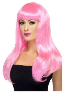 perruque rose femme, perruque cheveux longs femme, perruque cheveux roses longs, Perruque Babelicious, Rose
