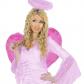 ailes de déguisement, ailes pour se déguiser, ailes d'anges roses, ailes d'ange rose, ailes en plumes, ailes roses Ailes d'Ange Roses, Fuchsia