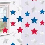 suspension étoiles, états unis, france Suspensions Etoiles, Bleu Blanc Rouge