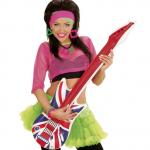 guitare électrique gonflable, guitare déguisement, accessoire rock déguisement, accessoire chanteur déguisement, fausse guitare électrique déguisement, accessoire union jack, accessoire drapeau anglais Guitare Gonflable, Drapeau Anglais