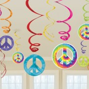 suspension hippie, déco hippie, années 70 Suspensions Peace
